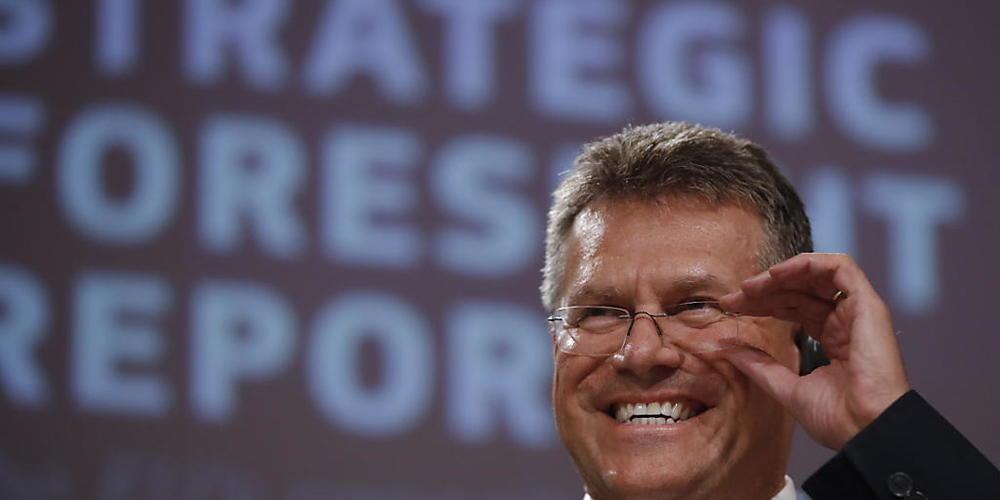 Vize-Kommissionspräsident Maros Sefcovic hat das Schweiz-Dossier übernommen. (Archiv)
