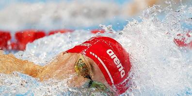 Gerade schnell genug: Als 15. zieht Roman Mityukov in die Halbfinals über 100 m Crawl ein