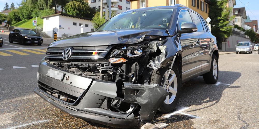 Das Unfallfahrzeug