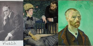 Am 26. Oktober geht es um Hugo von Tschudi (l.), der sich für Künstler wie Manet und van Gogh (r.) einsetzte.