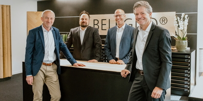 Die Belcolor-Geschäftsleitung: Peter Jud, Joel Schneider, Robert Engel, Patrick Meier