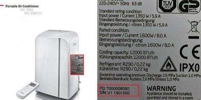 Vom Rückruf betroffen ist dieses mobile Klimagerät der Marke Koenic.
