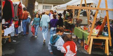 Impression eines Untervazer Herbstmarktes aus alten Zeiten.