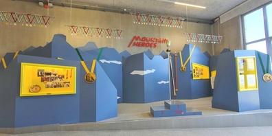Die neue Ausstellung Mountain Heroes auf dem Maschgenkamm.