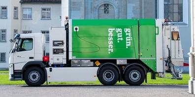 Das neue E-Fahrzeug für die Grünabfuhr