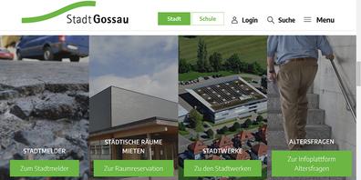 Die neue Website der Stadt Gossau.