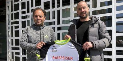 Forti Gossau Sportchef Sandro Wirz (links) mit Neuzugang Michael Knauth.