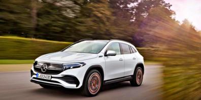 Die Elektro-Ästhetik des Designs des EQA signalisiert den Progressiven Luxus der Marke Mercedes-EQ.