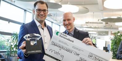 Den Diamanten 2020 gewann die Matriq AG um CTO Klaus Dietrich und CEO André Bernard