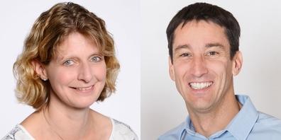 Jolanda Couchet (l.) ist neue Schmerkner Gemeinderätin, Reto Gubelmann (r.) neuer Eschenbacher Schulpräsident.