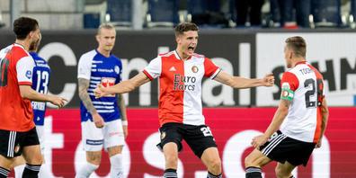 Guus Til traf zweimal für das überlegene Feyenoord Rotterdam gegen den FC Luzern
