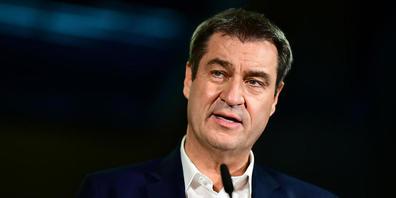 Markus Söder, CSU-Vorsitzender und bayerischer Ministerpräsident, spricht bei einem Pressestatement nach der Bundestagswahl im Jakob-Kaiser-Haus. Foto: Fabian Sommer/dpa