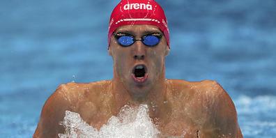Jérémy Desplanches schwimmt über 200 m Lagen um eine Medaille