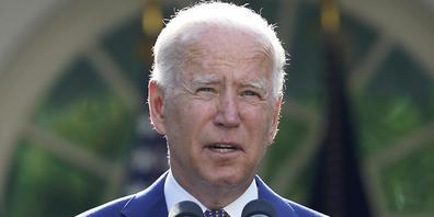 Joe Biden, Präsident der USA, spricht im Rosengarten des Weißen Hauses. Foto: Susan Walsh/AP/dpa