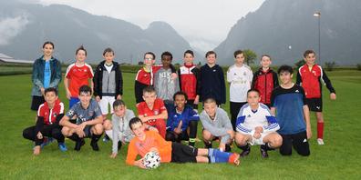 Das Juniorenteam Db vom FC Landquart trainiert auch bei Regen.