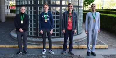 Mateusz Gugala, Philipp Burkhardt, Martin und Michael Carnogursky.