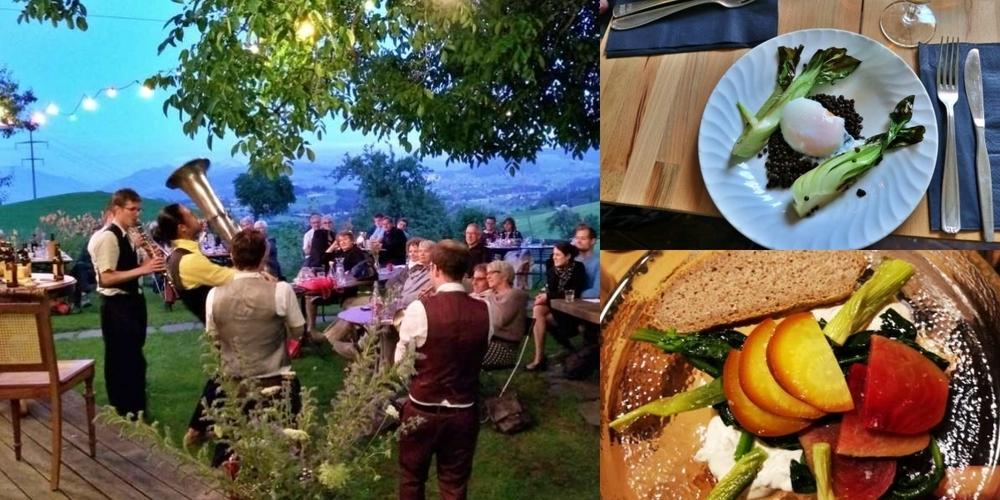 Ein Konzert vom Feinsten und köstliches Essen: Das Atelier Hinterrüti kombiniert Musik und Kulinarik.