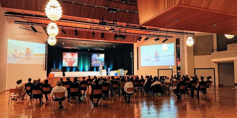 Bühler Schlussfeier 2021 im Gemeindesaal Uzwil.