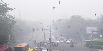 ARCHIV - Smog in Neu-Delhi. Foto: Manish Swarup/AP/dpa