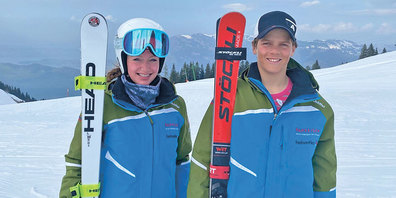 Gina Wilhelm (links) und Valerio Baracchi (rechts) in Beckenried- Klewenalp.