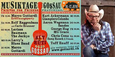 Verwandeln die Gossauer Festhütte in eine Musik-Hütte: Marco Gottardi & Freunde