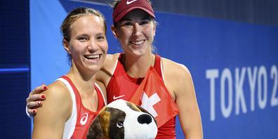 Viktorija Golubic und Belinda Bencic haben eine Medaille bereits auf sicher
