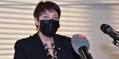 Frau Landammann Petra Steimen und ihre Regierungsratskollegen sind unter bestimmten Bedingungen für weitere Lockerungen.  (Bild: Archiv/  Stefan Grüter)