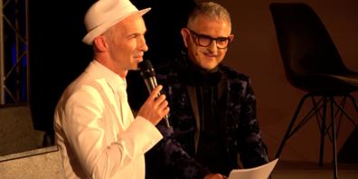Peter John Farrowski und  Andreas Michael Roth an der Premiere «Dinner&Show»