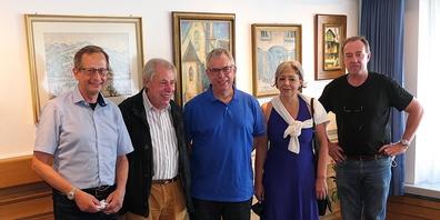 Die Proponenten der Heinrich-Herzig Ausstellung: v.l. Urs Müller, Jürg Rhychener, Urs Rhychener, Katharina Linsi und Othmar Spirig