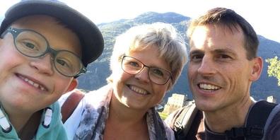 Maya und Roger Gehring mit Sohn Marius.