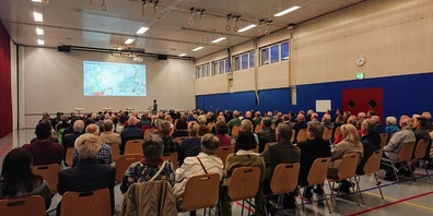 Grosses Interesse für die Informationsveranstaltung vom 29. September 2021 in der Turnhalle Zuzwil.