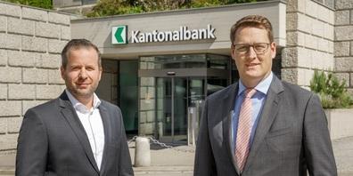 Zwei neue Führungspersonen in der Niederlassung der St.Galler Kantonalbank in Wil (v. l.): Thomas Köchli, Leiter Privatkunden, und Dominik Brüschweiler, Leiter Private Banking.