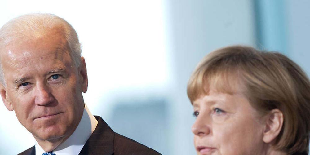 ARCHIV - «Arbeitsbesuch»: US-Präsident Biden empfängt im Juli Kanzlerin Merkel im Weißen Haus. Foto: picture alliance / dpa
