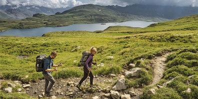 Gemäss Studie «Wandern in der Schweiz 2020» ist Graubünden  bei 6,5 Prozent der Befragten für Tageswanderungen beliebt und für  Wanderungen mit Übernachtung bei 14,3 Prozent.