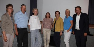Der Vorstand des Vereins «60 Plus Widnau» (von links): Martha Graf, Rolf Sieber, Yvette Werner, Evelyne Frei, Marlen Hasler, Hanna Bognar, Patrick Dürr.