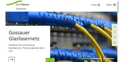 Neue Webseite der Stadtwerke Gossau (Screenshot gossau24.ch)
