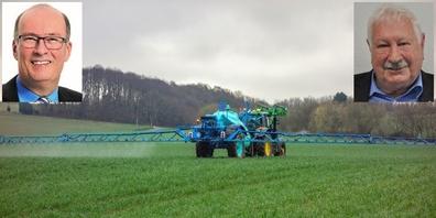 Bei den Agrar-Initiativen sieht Herbert Oberholzer (r.o.) den Bauernpräsidenten Markus Ritter (l.o.) in einer zweifelhaften Rolle.