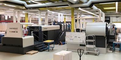 Blick in die Produktion der AR Packaging Swiss AG in St.Gallen