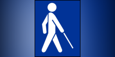 Internationales Logo für Blindheit oder Sehbinderung.