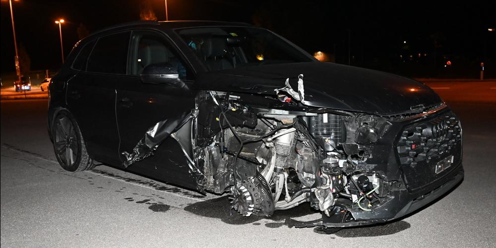 In Flums führte eine infolge eines Unfalls geplatzte Bremsscheibe zu zwei verletzten Personen.