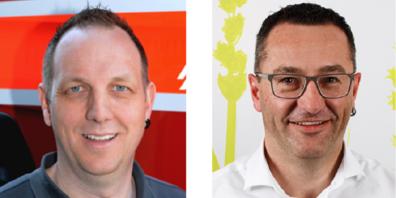 Björn Scheck (links) geht, Peter Zuberhühler übernimmt ad interim.