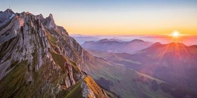 Blick auf den Alpstein: wunderschöne Natureindrücke für Bergwander-Fans.