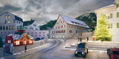 Visualisierung Neugestaltung Dorfkern Malans