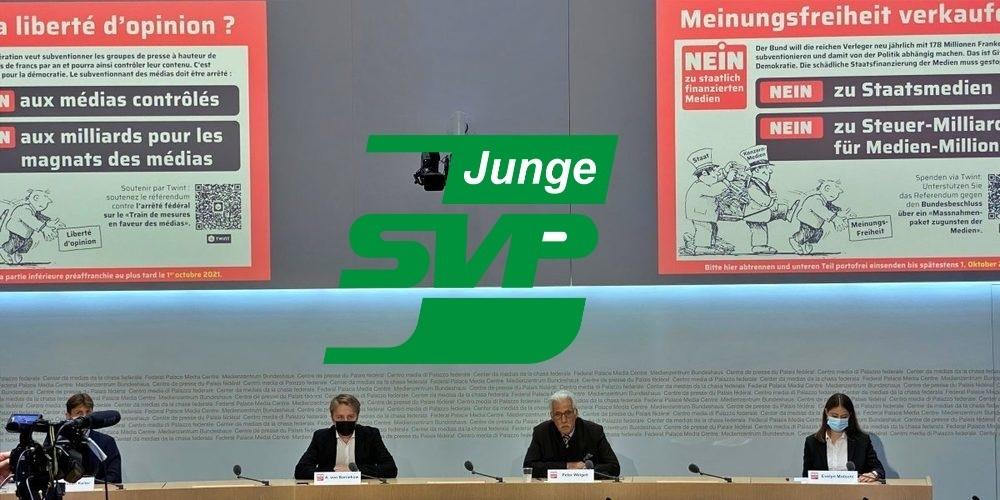 Die Junge SVP lehnt es ab, der Medienbranche 178 Millionen Franken Subventionen auszusprechen.