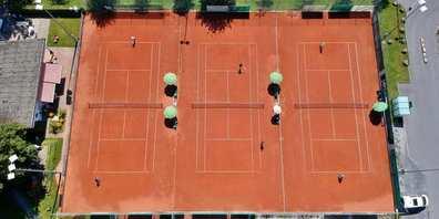Anlage des TennisClub Uznach an der Benknerstasse.