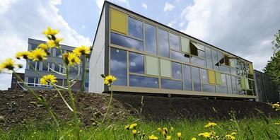 """Die Obdachlosensiedlung """"Brothuuse"""" des Sozialwerks Pfarrer Sieber im Mai 2012: Der Mietvertrag läuft Ende 2024 aus."""