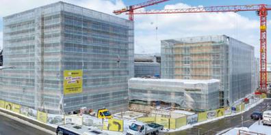 Die aktuell grösste Baustelle auf Gemeindegebiet: der Birkenhof im Uzwiler Zentrum.