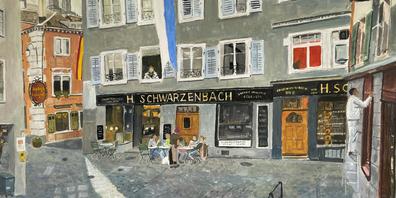 Plätze und Cafés in Frankreich, Gärten und Kanalansichten, Gassen in der Zürcher Altstadt und viele weitere Motive sind in den Werken von Jürg Treichler zu finden.