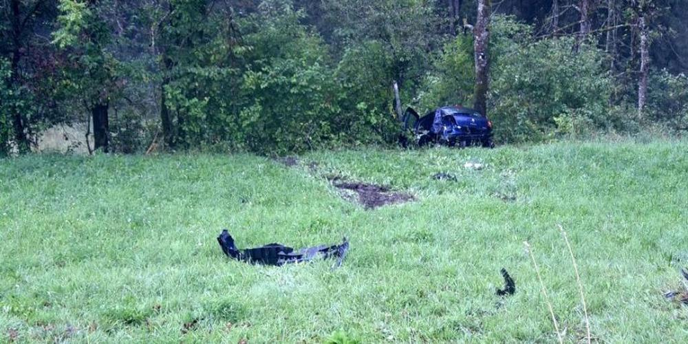 Der Wagen mit den drei Jugendlichen überschlug sich mehrmals und landete schliesslich in einem Gebüsch.