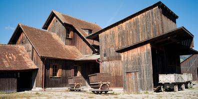 Die Schollenmühle zeugt von der reichen Vergangenheit des Torfabbaus im Rheintal